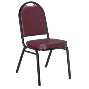 724 stack chair burgundy