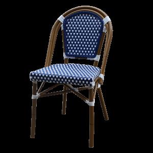 Bistro  Aluminum Bamboo Chair Blue