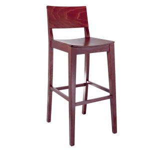Bazil Bar Stool Mahogany