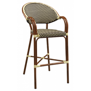 Bistro Arm  Bar stool Brown