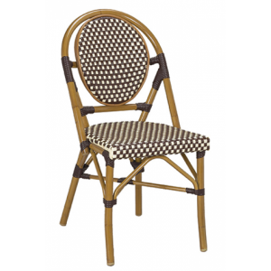 Bistro Metal Chair Brown