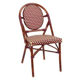 Bistro Metal Chair Burgundy