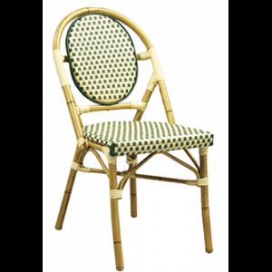 Bistro Metal Chair Green