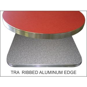 Laminate top with Corrugated ribbed aluminum edge
