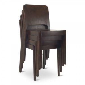 Daniel Stacking Chair Walnut