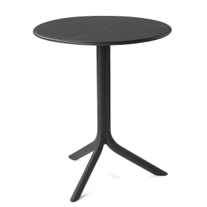 24-Round Drizzle Table-Anthracite