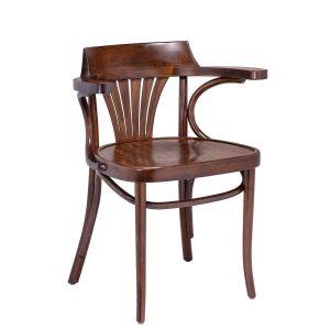 Fanback Arm Chair Walnut