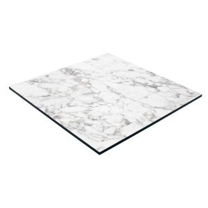 Weatherproof High pressure laminate restaurant table top - Carrera white