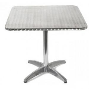Inox Table with Base- Stainless-Steel