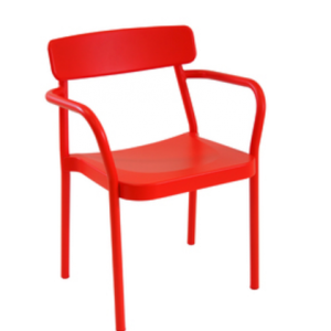Kelly Arm Chair Red