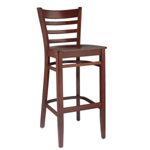 LADDER BACK Bar Stool Mahogany
