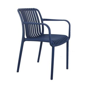 Madrid Resin Lined Modern Arm Chair-Blue