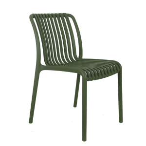 Madrid Resin Lined Modern Chair-Green