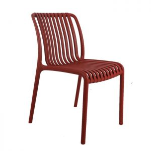 Madrid Resin Lined Modern Chair-Red