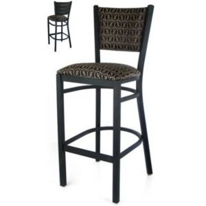 Metal Ladderback PS Padded Back Bar stool