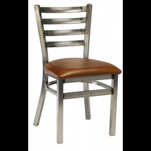 Metal Ladderback Distressed Padded seat
