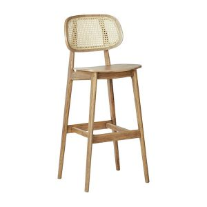 Michael Caned Bar Stool Europe -Natural