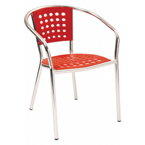 Monaco Stack Chair Red
