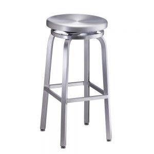 Navy Backless (bar height) Aluminum