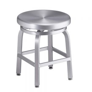 Navy Backless (dining height) Aluminum