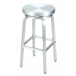 Navy Aluminum Backless Bar stool