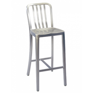 Navy Aluminum Bar stool