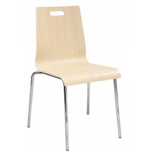 Plymold stacking Chair White-wash