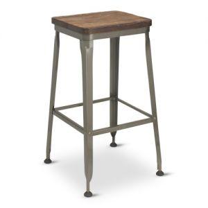 Reclaimed School Backless Bar stool Walnut