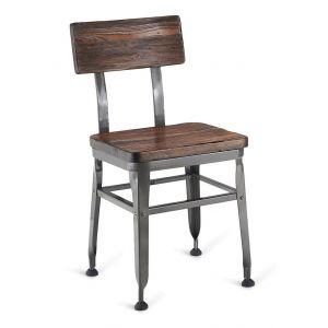 Reclaimed School Chair Walnut