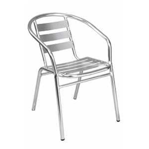 Sara Stacking Chair Aluminum