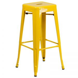 Sentinel Backless Powder coated Industrial Steel Bar stool - Outdoor