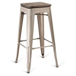 Sentinel Backless VS Bar stool (wood seat)