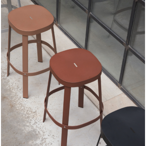 Thanos backless Bar Stool Copper