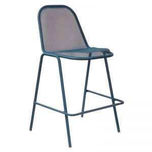 Tiger Bar Stool (blue) - CLOSEOUT
