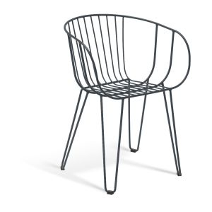 Olivia Arm Chair Wired Mesh Steel Modern Outdoor Chair