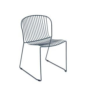 Bolonia Side Chair Wired Mesh Steel Outdoor Chair