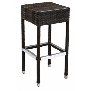 Wicker Backless Bar stool Brown