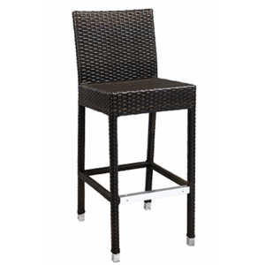 Wicker Back Bar stool Brown
