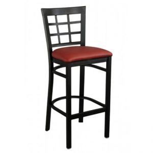 Metal Window Pane Bar stool Black