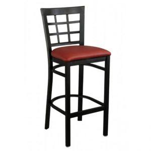 Window Pane Bar stool Black