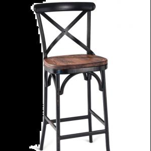 X-back Metal Reclaimed Bar stool