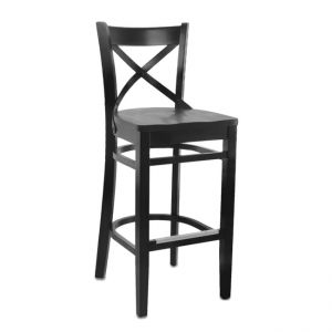 X-Back SR Bar Stool Black