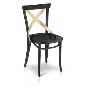 X Bistro (black w/ natural cross) Chair